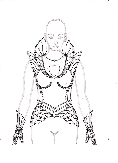500x687 Misc Sketch 11 By Prince Another Armor Sketch Armors