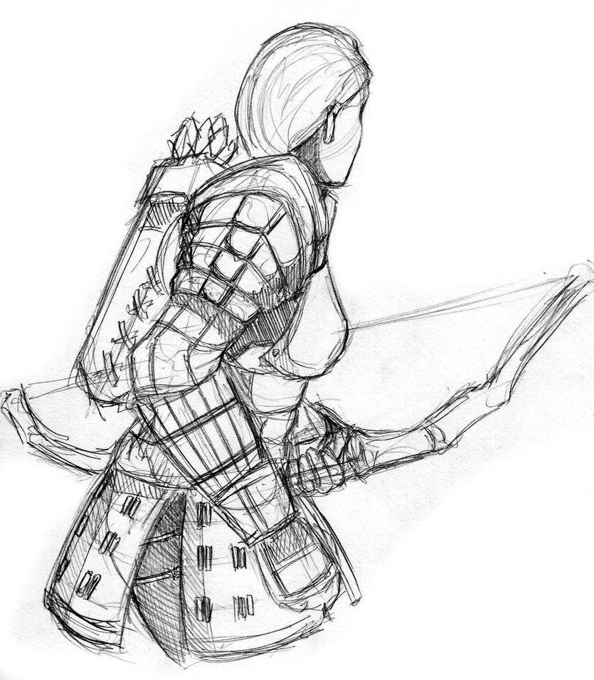 835x956 Skyrim Blades Archer By Kaiyuan