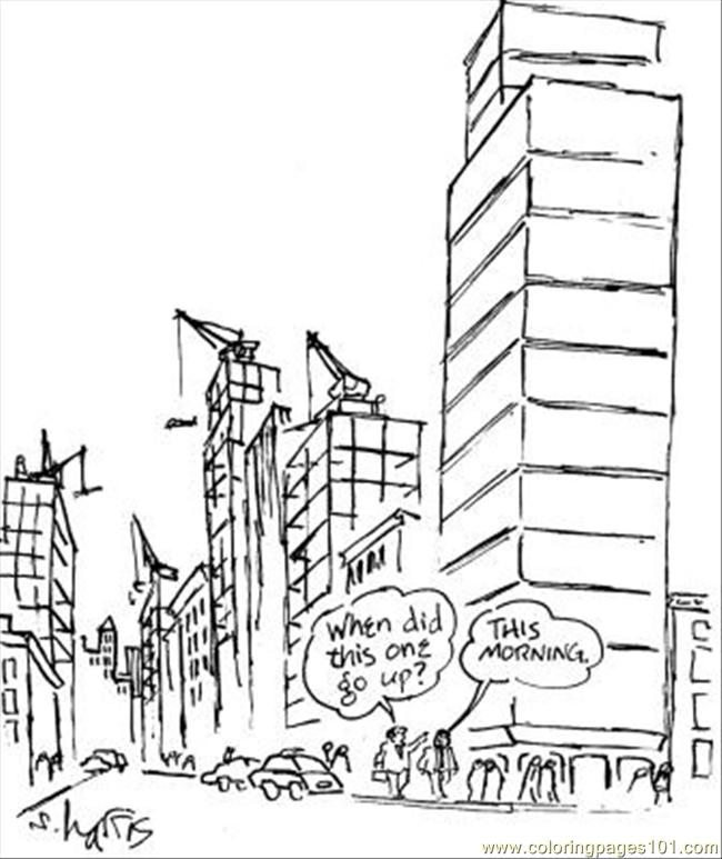 650x773 Skyscraper Coloring Pages