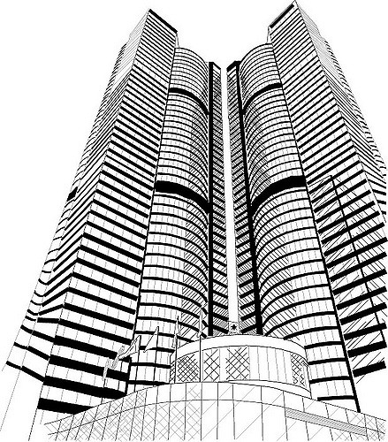 439x500 Skyscraper This Is A Architecture Piece Using Only