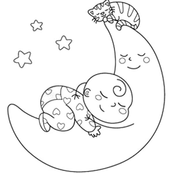Sleeping Baby Drawing at GetDrawings.com   Free for personal use ...