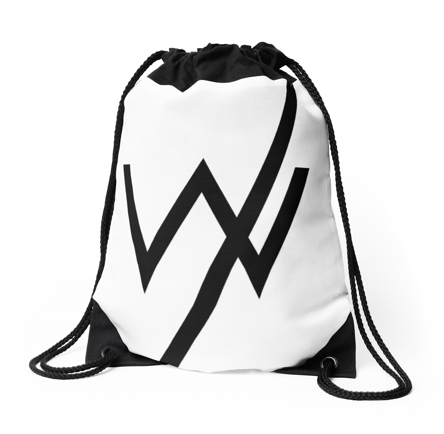 1435x1404 Sleeping With Sirens Famous Logo Drawstring Bags By Annyyaa