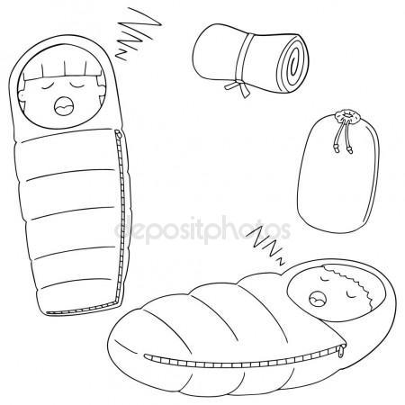 450x450 Vector Set Of Sleeping Bag Stock Vector Ourlifelooklikeballoon