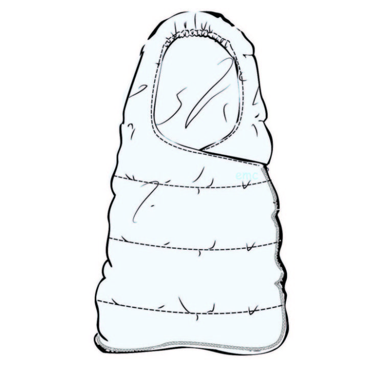 749x750 Emc Infant Sleeping Bag With Zipper Opening On The Side And Down