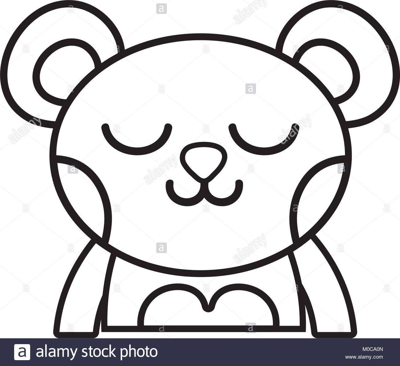 1300x1189 Sleeping Bear Black And White Stock Photos Amp Images