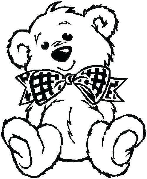 500x607 Sleeping Bear Coloring Page