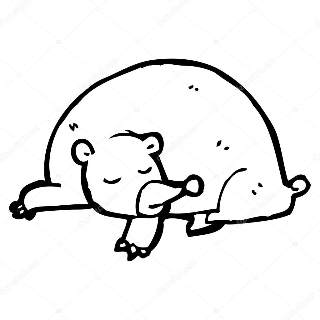 1024x1024 Sleeping Bear Cartoon Stock Vector Lineartestpilot