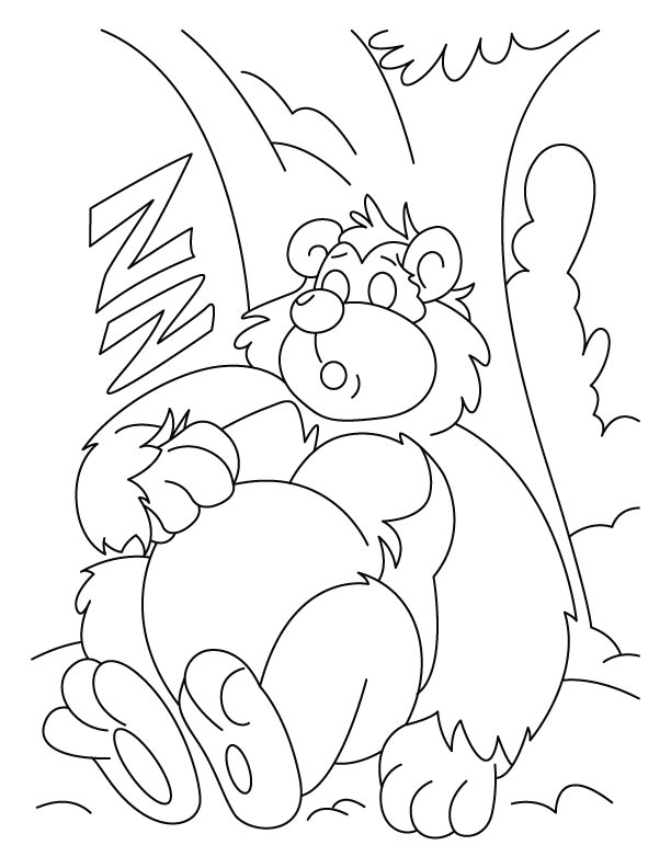 612x792 Sleeping Bear Coloring Pages Download Free Sleeping Bear
