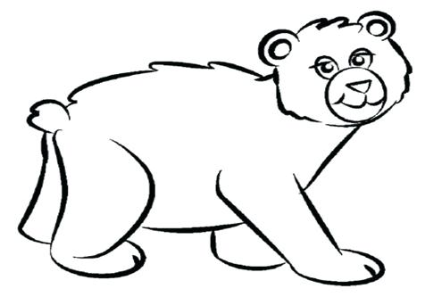 476x333 Bear Coloring Pages Preschool Sleeping Bear Coloring Page Teddy
