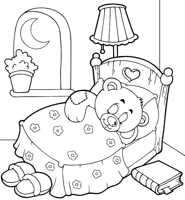 600x650 Bear Sleeping In Cave Coloring Page Pages Of A Teddy Gallery