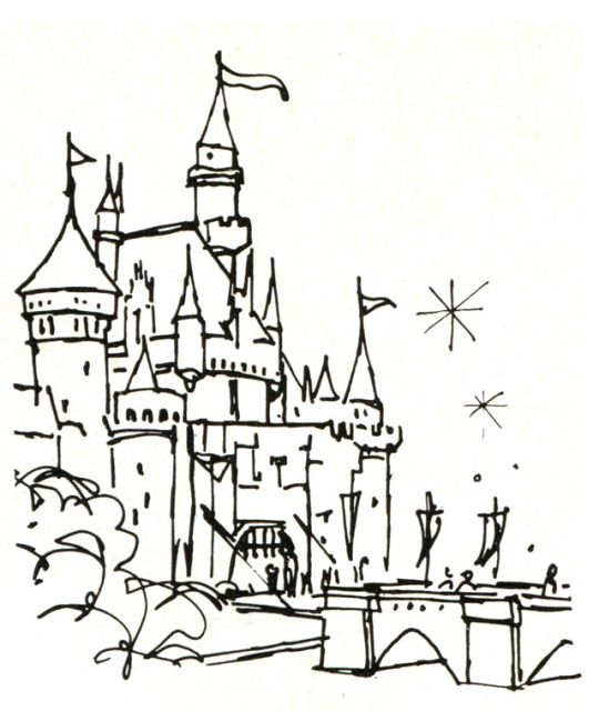 Sleeping Beauty Castle Drawing