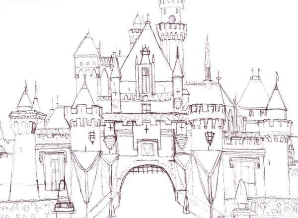 600x439 Disneyland Castle In Pen By Oddballartist