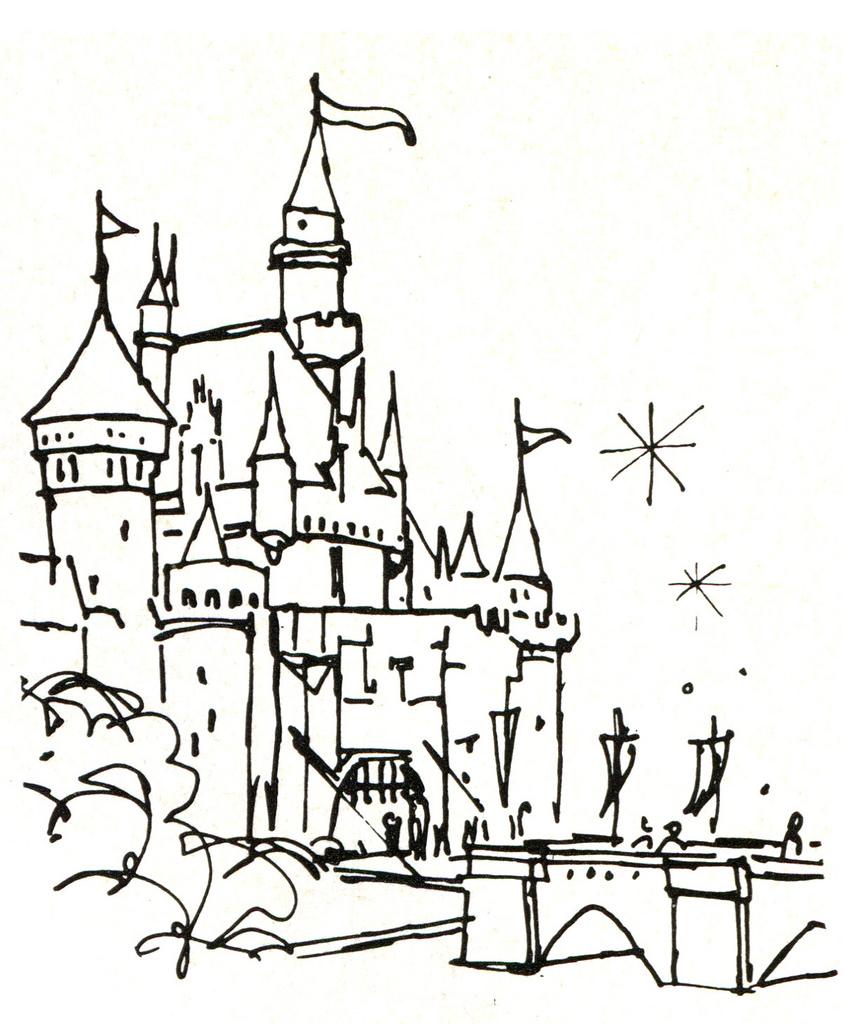863x1024 Drawn Castle Sleeping Beauty Castle