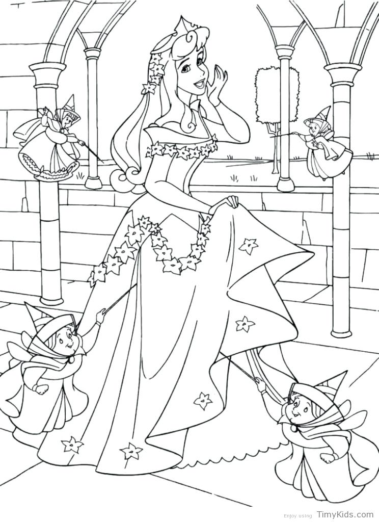 744x1024 Awesome Sleeping Beauty Coloring Pages Print Coloring Pages