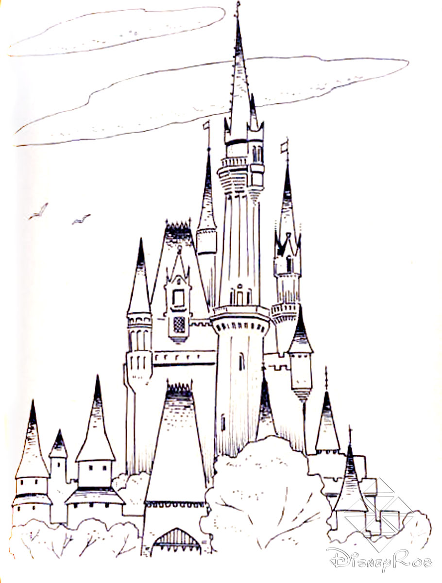 Sleeping Beauty Castle Drawing At Getdrawingscom Free For - Castle-coloring-pages-to-print