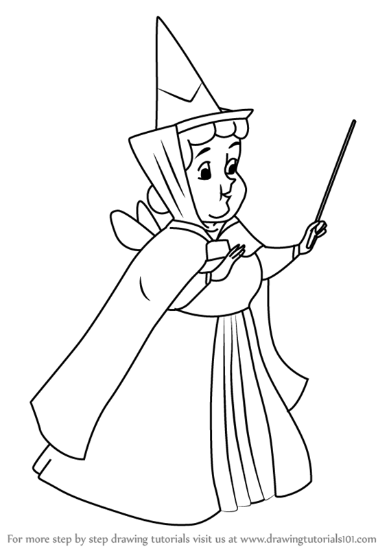 567x800 Learn How To Draw Flora From Sleeping Beauty (Sleeping Beauty