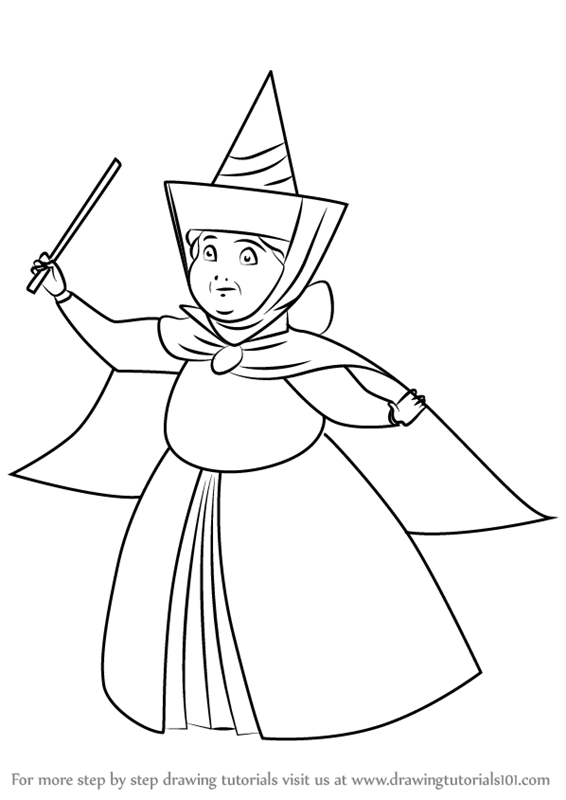 566x800 Learn How To Draw Merryweather From Sleeping Beauty (Sleeping