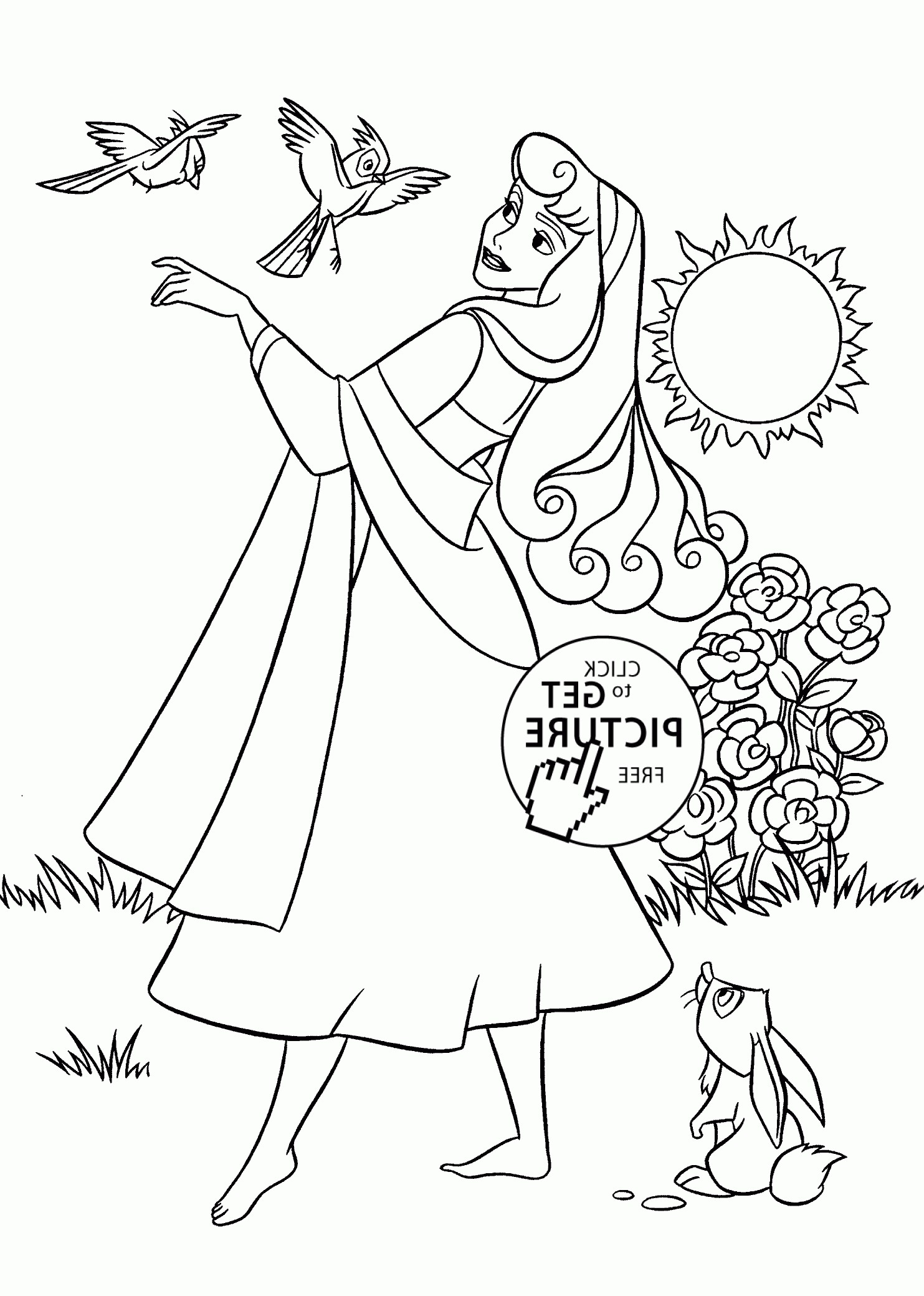 1483x2079 Sleeping Beauty Coloring Pages For Kids New Nature Black And White