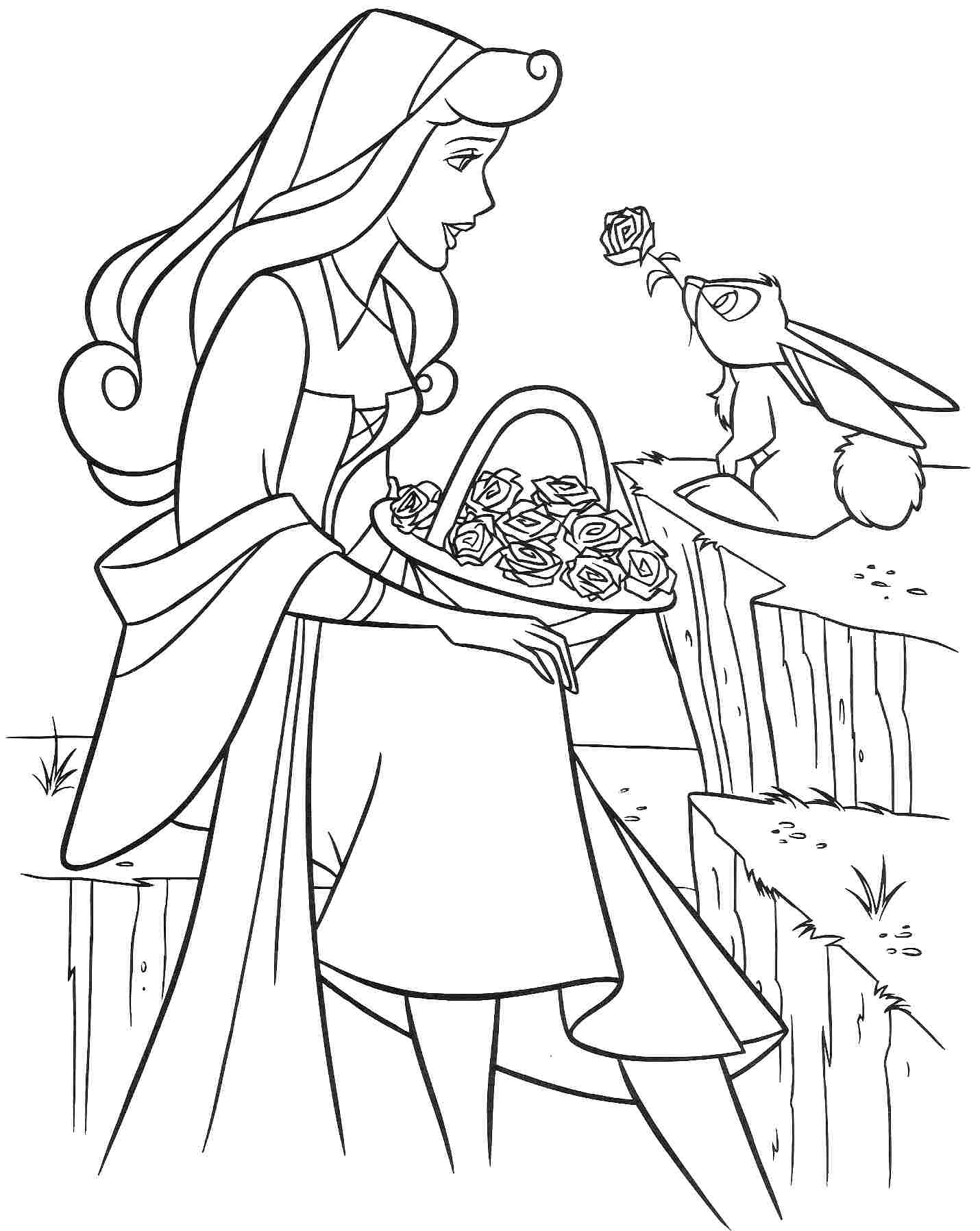 1430x1796 Sleeping Beauty Coloring Pages Free Colouring To Sweet Draw Pict