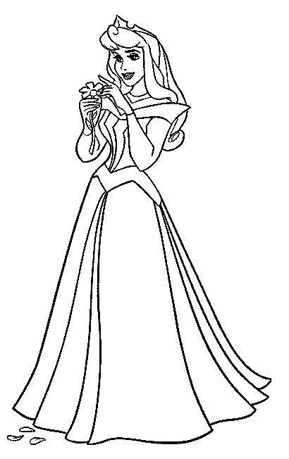 410x652 Sleeping Beauty Coloring Pages