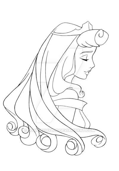 400x574 Sleeping Beauty Lineart By Zombiechylde