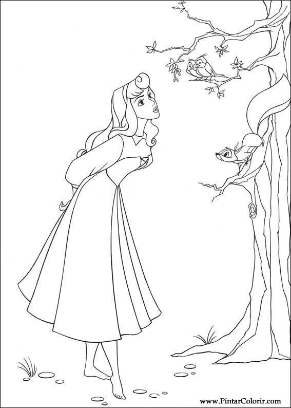 567x794 Drawings To Paint Amp Colour Sleeping Beauty