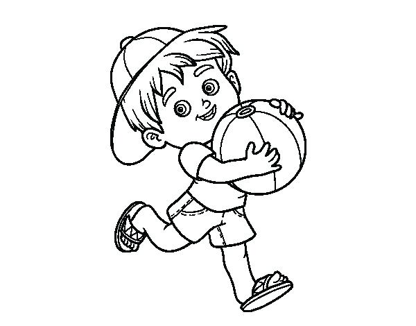 600x470 Coloring Page Boy Beach Ball Coloring Page Beach Ball Coloring