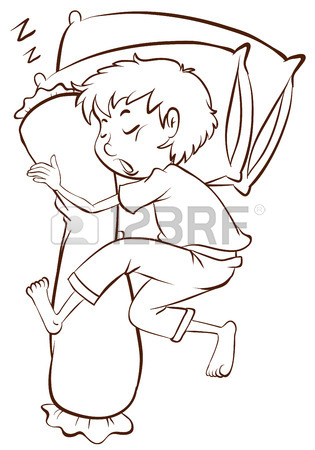 315x450 Illustration Of A Simple Sketch Of A Boy Sleeping Soundly