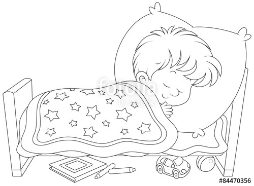 500x367 Little Boy Sleeping In His Small Bed Stock Image And Royalty Free