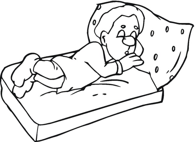 660x481 Boy Sleeping In Bed Coloring Pages Quilt Coloring Pages