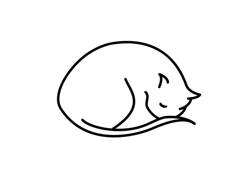 800x600 Simple Cat Is Sleeping Tattoo My Next Tattoo Cat