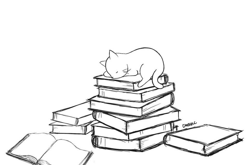 1024x683 Sleeping Cat Books By Littlepurplepillow
