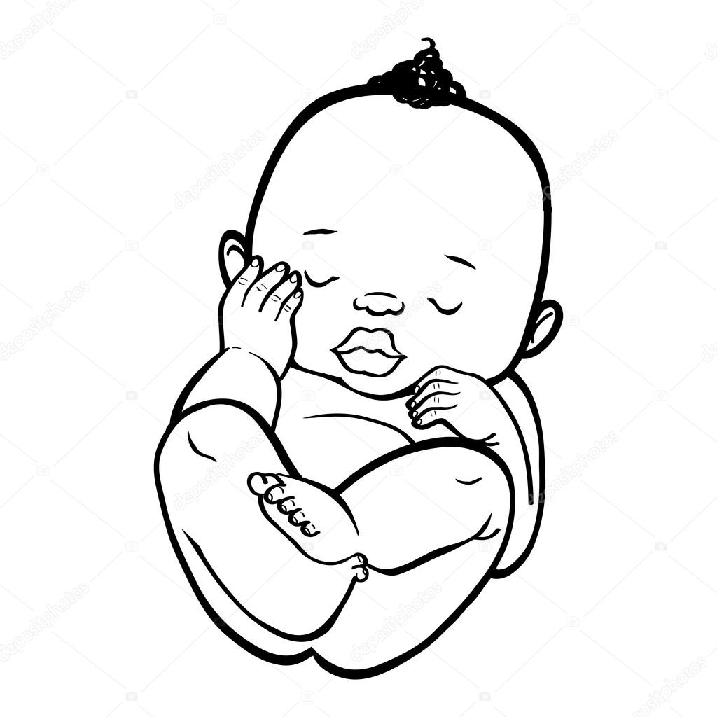 Sleeping Child Drawing At Getdrawingscom Free For Personal Use