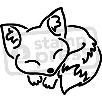 Sleeping Fox Drawing