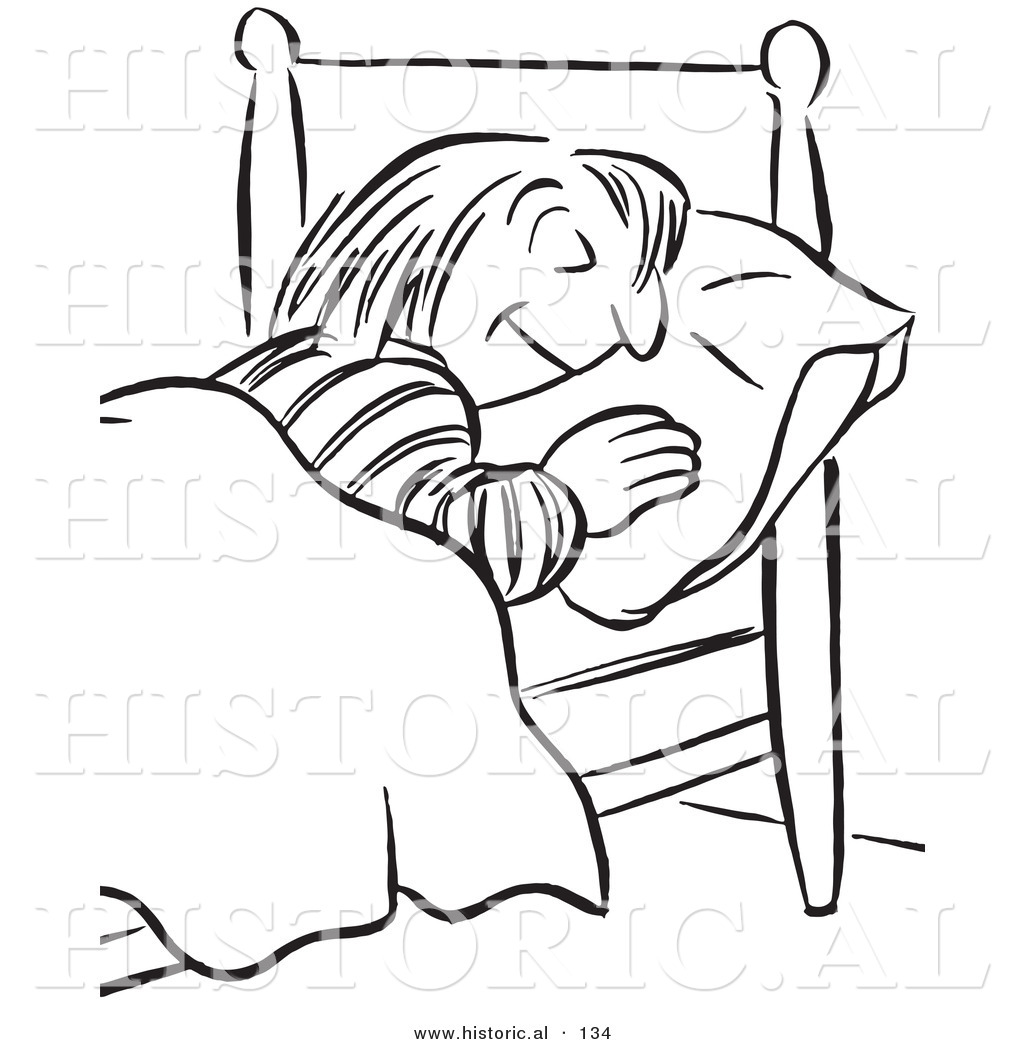 1024x1044 Historical Vector Illustration Of A Cartoon Styled Girl Sleeping