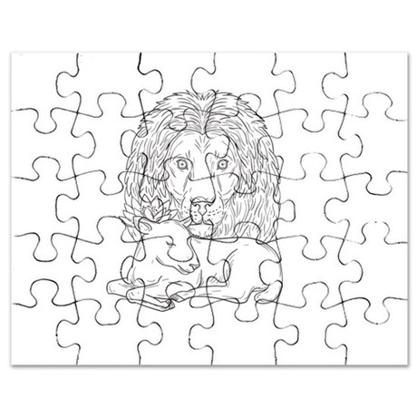 460x460 Sleeping Lion Puzzles, Sleeping Lion Jigsaw Puzzle Templates