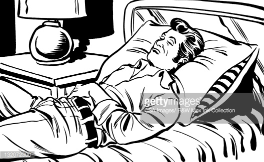 528x325 Guy Sleeping In Bed Clipart