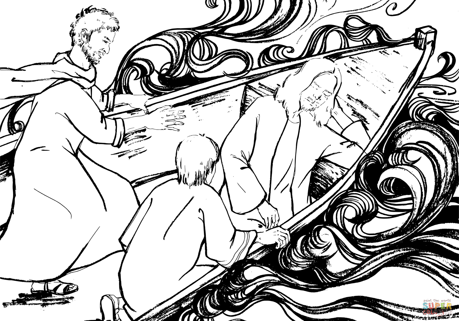 1500x1050 Awesome Along With Stunning Jesus Calms The Storm Coloring Page
