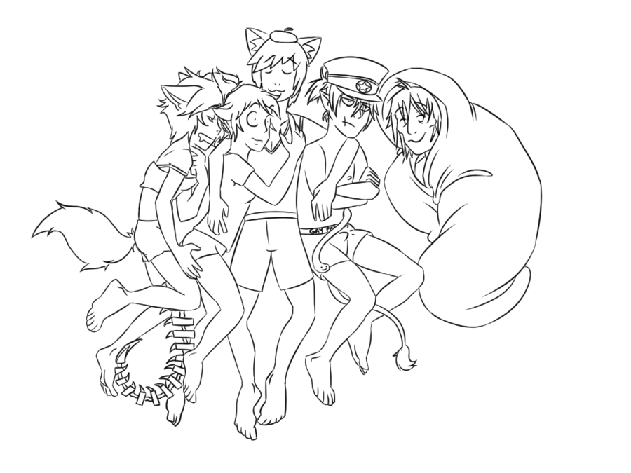 900x675 Sleepover (Draw Your Squad Challenge) By Audolfhybridhunter