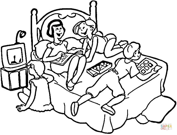 750x572 Sleepover Coloring Pages Sleepover Coloring Page Free Printable