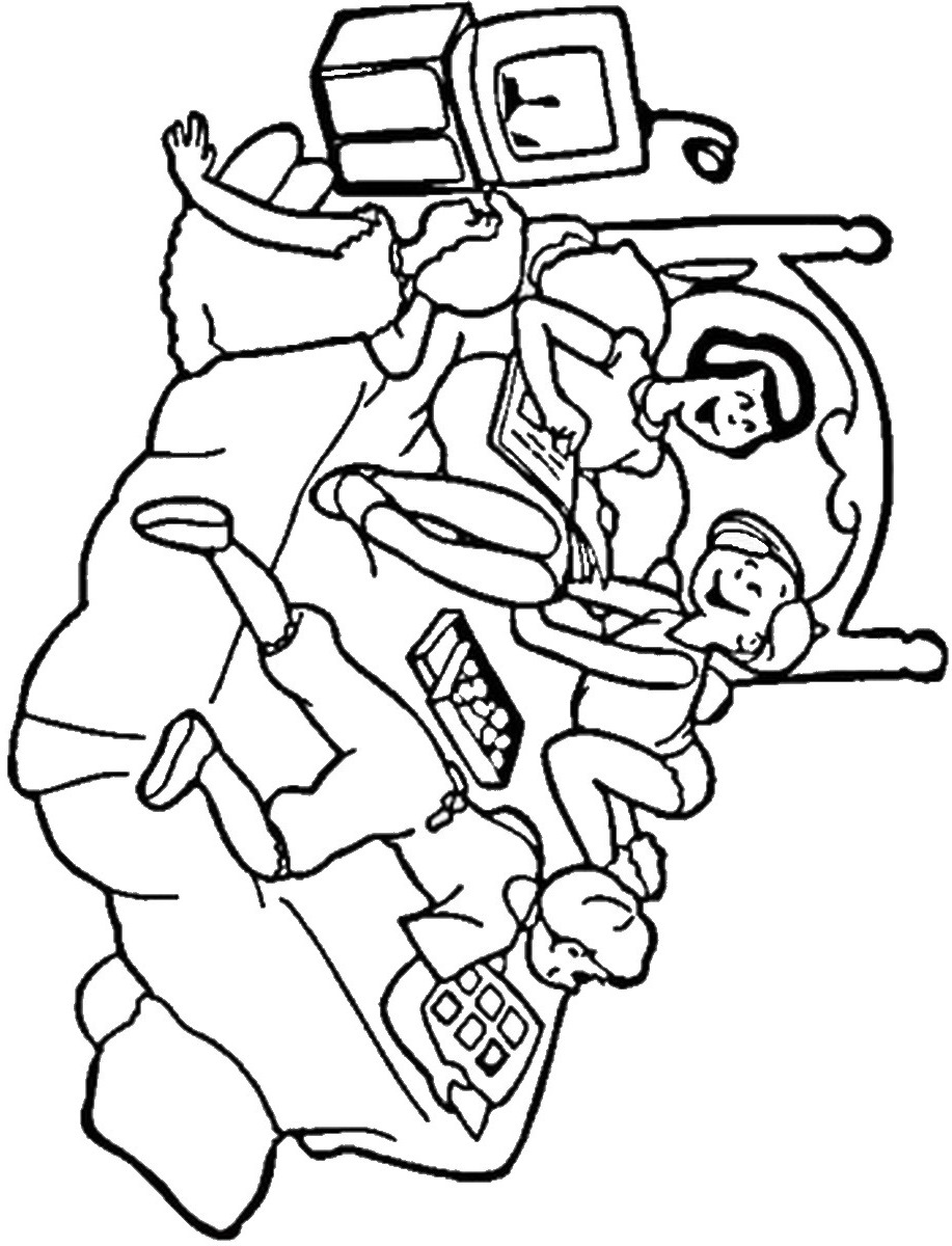 917x1200 Sleepover Coloring Pages Birthday Printable