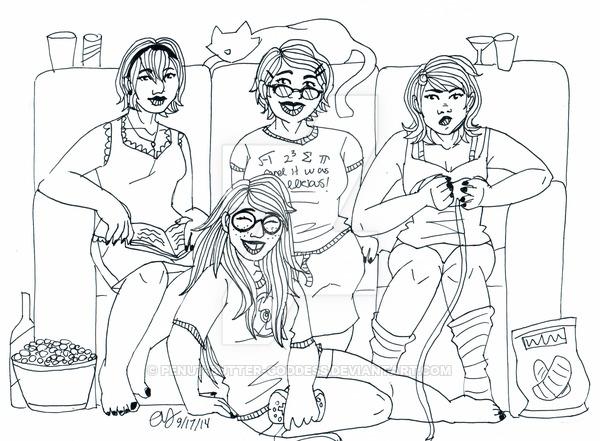 600x441 Homestuck Girls Sleepover By Penut Butter Goddess