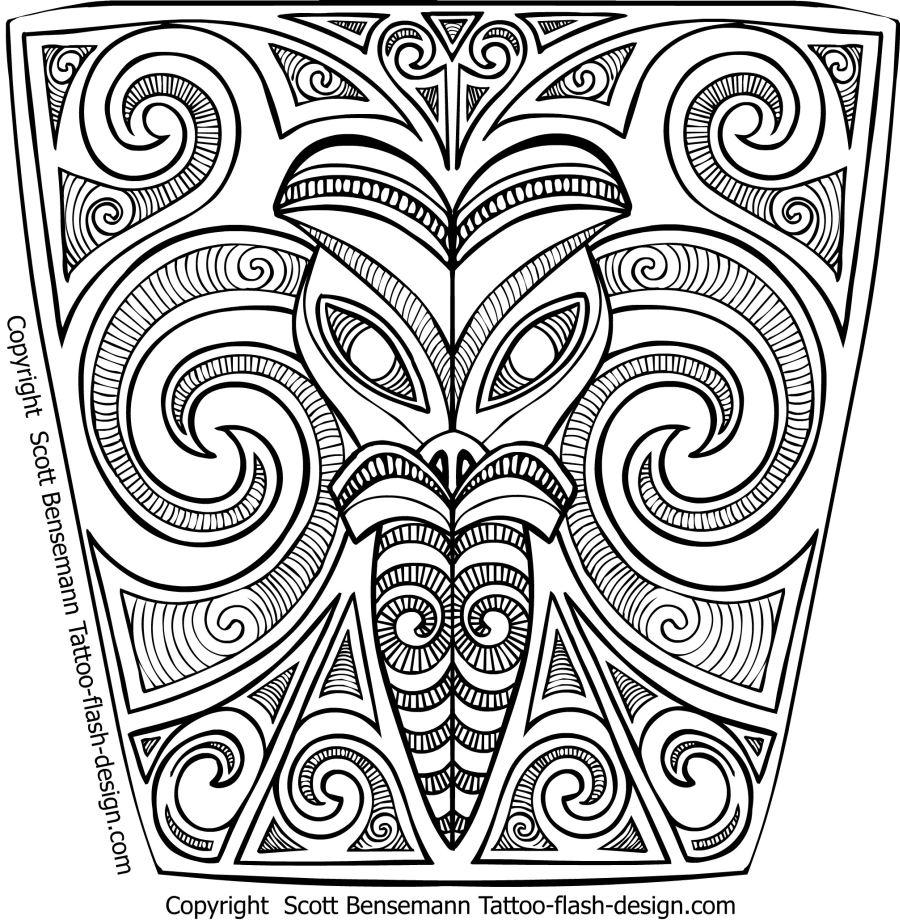 900x920 Free Tribal Maori Tattoo Sleeve Designs