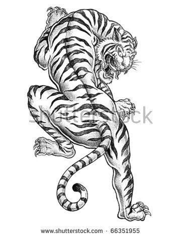 360x470 Old School Tattoo Love The Tiger . Tattoo