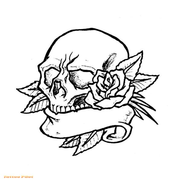 607x600 Snake Skull Tattoo Stencil In 2017 Real Photo, Pictures, Images