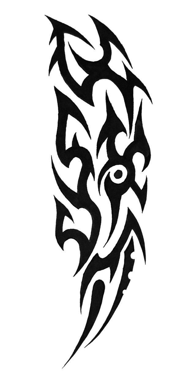 634x1259 Tribal Sleeve Tattoo By Sorentalon