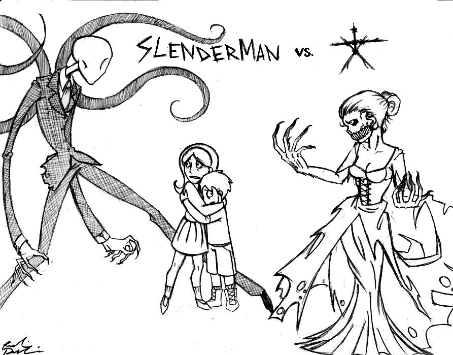 893x699 Slenderman Vs. The Blair Witch By Robinelyce