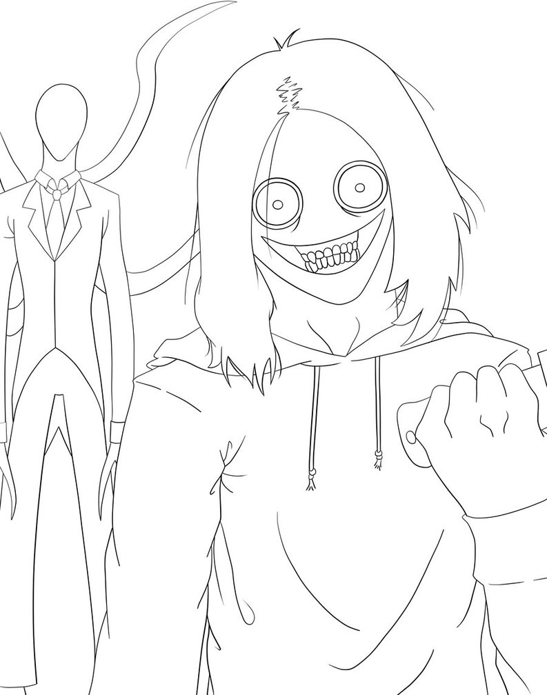 793x1008 Jeff The Killer And Slender Man By Tsosie