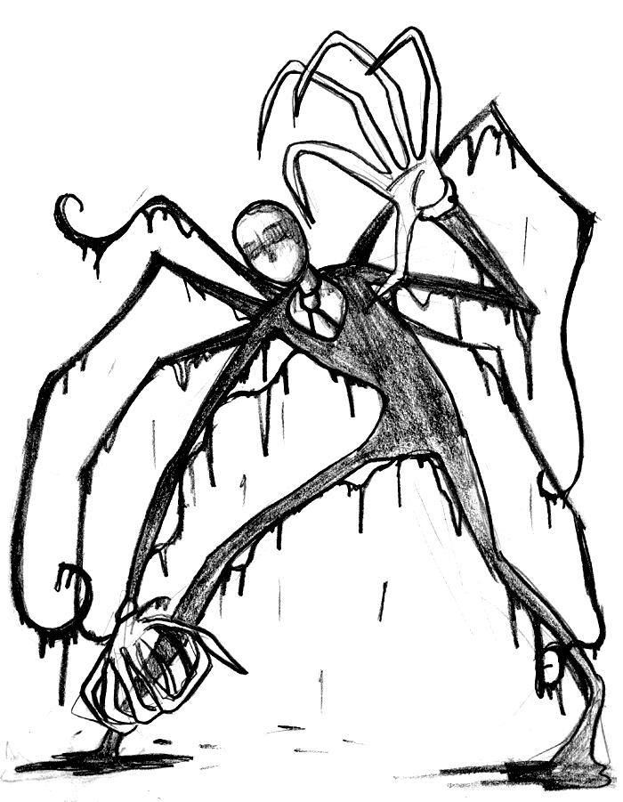 700x901 Slenderman (Sketch) By Evil Rick