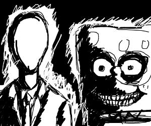 300x250 Slenderman And Creepy Spongebob